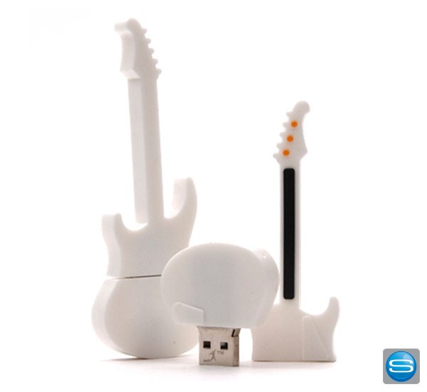 Gitarrenförmiger USB-Stick als Give Away